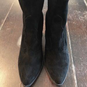 Dolce Vita Cammi Suede Boot, Black Leather
